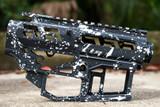 SR-15 Skeletonized Receiver Set Splash [GREY/WHITE]