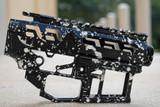 SR-15 Skeletonized Receiver Set Splash [BLACK/WHITE]