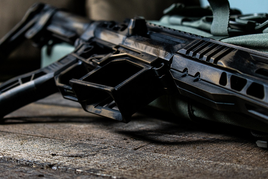 SR-15 Skeletonized Receiver Set Battleworn [BURNT BRONZE]