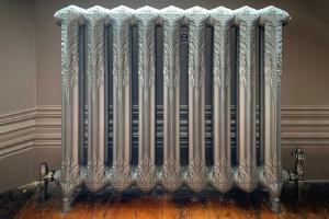 Cast Iron Radiator - Metallic Pewter