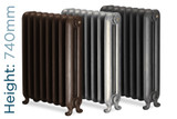 Harcourt_740-TH - Harcourt 2 Column Cast Iron Radiator H740mm x W320mm