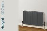 Trade Essentials Aluminium Double Panel Volcanic Radiator H407mm X W1140mm