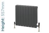 Trade Essentials Aluminium Double Panel Volcanic Radiator H557mm X W420mm
