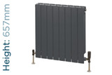 Trade Essentials Aluminium Double Panel Volcanic Radiator H657mm X W420mm