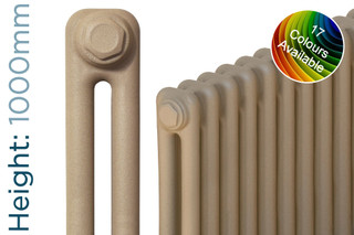 CT2-C-1000-TH - Classic Colour 2 Column Radiator 3 Sections H1000mm X W162mm