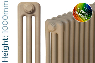 CT3-C-1000-TH - Classic Colour 3 Column Radiator 3 Sections H1000mm X W162mm