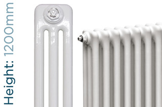NF3-W-1200-TH - Infinity White 3 Column Radiator 3 Sections H1200mm X W162mm