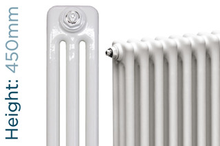NF3-W-450-TH - Infinity White 3 Column Radiator 3 Sections H450mm X W162mm