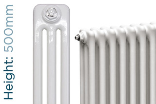 NF3-W-500-TH - Infinity White 3 Column Radiator 3 Sections H500mm X W162mm