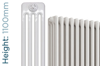NF4-W-1100-TH - Infinity White 4 Column Radiator 3 Sections H1100mm X W162mm