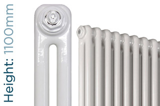 NF2-W-1100-TH - Infinity White 2 Column Radiator 3 Sections H1100mm X W162mm