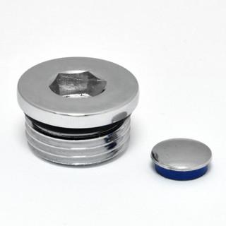 A-BP-514-C - 514 1/2 inch Flat Blanking Plug Chrome