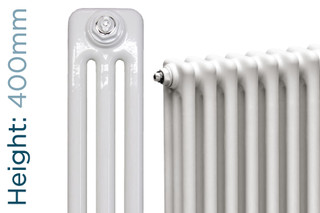 NF3-W-400-TH - Infinity White 3 Column Radiator 3 Sections H400mm X W162mm