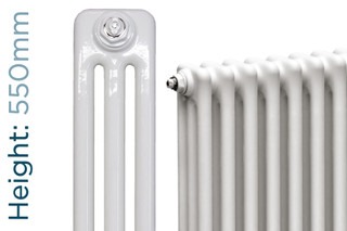 NF3-W-550-TH - Infinity White 3 Column Radiator 3 Sections H550mm X W162mm