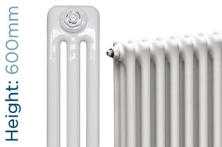NF3-W-600-TH - Infinity White 3 Column Radiator 3 Sections H600mm X W162mm