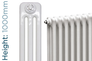 NF3-W-1000-TH - Infinity White 3 Column Radiator 3 Sections H1000mm X W162mm