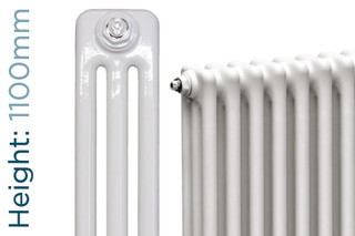 NF3-W-1100-TH - Infinity White 3 Column Radiator 3 Sections H1100mm X W162mm