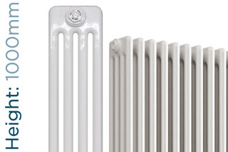 NF4-W-1000-TH - Infinity White 4 Column Radiator 3 Sections H1000mm X W162mm