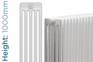 NF5-W-1000-TH - Infinity White 5 Column Radiator 3 Sections H1000mm X W162mm