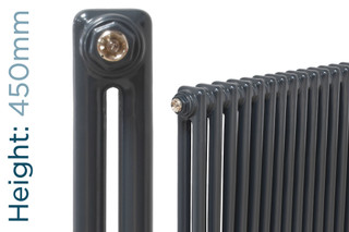 NF2-A-450-TH - Infinity Anthracite 2 Column Radiator 3 Sections H450mm X W162mm