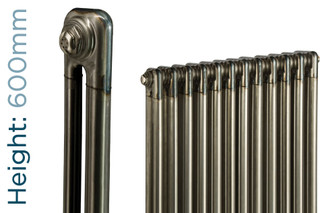 NF2-R-600-TH - Infinity Raw 2 Column Radiator 3 Sections H600mm X W162mm