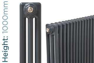 NF3-A-1000-TH - Infinity Anthracite 3 Column Radiator 3 Sections H1000mm X W162mm