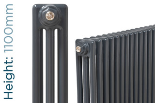 NF3-A-1100-TH - Infinity Anthracite 3 Column Radiator 3 Sections H1100mm X W162mm