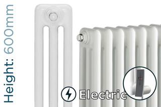 DQ-MD3E-600-W-TH - DQ Modus Electric 3 Column Horizontal Radiator H600mm x W692mm