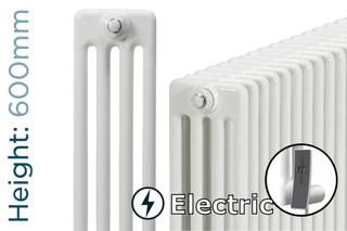 DQ-MD4E-600-W-TH - DQ Modus Electric 4 Column Horizontal Radiator H600mm x W692mm