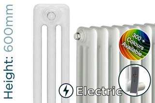 DQ-MD3E-600-C-TH - DQ Modus Electric 3 Column Horizontal Radiator H600mm x W692mm Colour