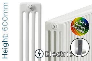 DQ-MD4E-600-C-TH - DQ Modus Electric 4 Column Horizontal Radiator H600mm x W692mm Colour