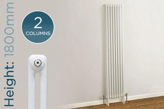 TE2-1800-W-TH - Trade Essentials White 2 Column Vertical Radiator H1800 x W300