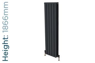 Trade Essentials Aluminium Double Panel Volcanic Radiator H1866mm X W260mm