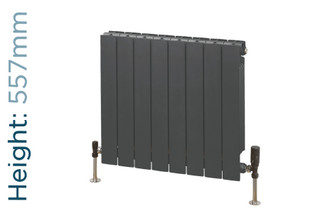 Trade Essentials Aluminium Double Panel Volcanic Radiator H557mm X W420mm