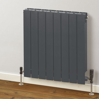 Trade Essentials Aluminium Double Panel Volcanic Radiator H657mm X W980mm