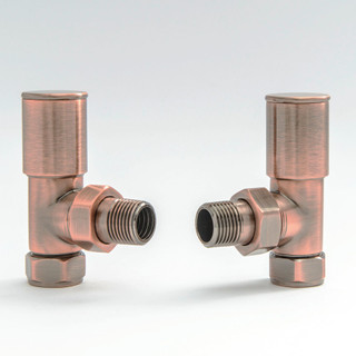 006 Modern Manual Angled Antique Copper Radiator Valves