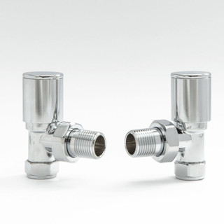 006 Modern Manual Angled Chrome Radiator Valves