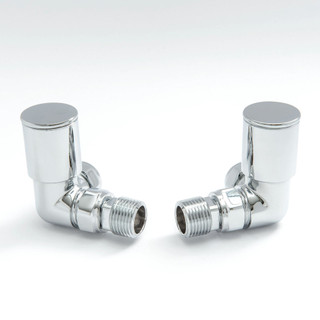 008 Modern Manual Corner Chrome Radiator Valves