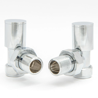 009 Modern Manual Angled Chrome Radiator Valves