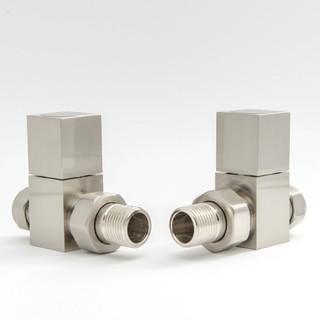 014 Modern Manual Straight Satin (Brushed) Nickel Radiator Valves