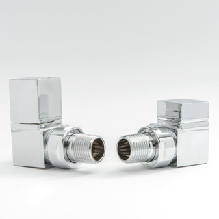 015 Modern Manual Corner Chrome Radiator Valves