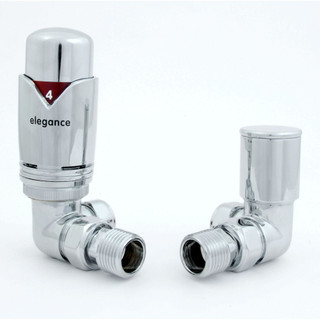 039 Modern TRV Corner Chrome Thermostatic Radiator Valves