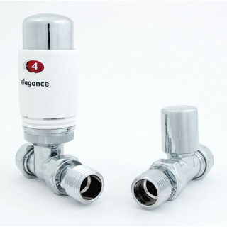 039 Modern TRV Straight White Thermostatic Radiator Valves