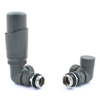052 Modern TRV Corner Gunboat Grey Thermostatic Radiator Valves