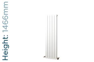 Infinity Aluminium Designer White Vertical Radiator H1466mm X W260mm