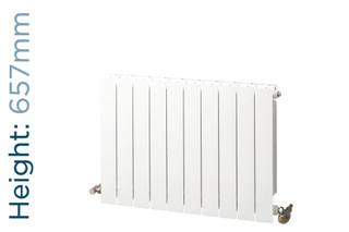 NFA-TD-657-W-TH - Infinity Aluminium Designer White Horizontal Radiator H657mm X W260mm