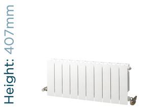 NFA-TD-407-W-TH - Infinity Aluminium Designer White Horizontal Radiator H407mm X W260mm