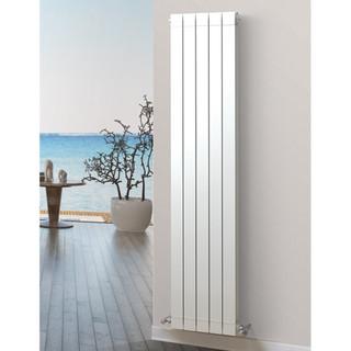 Infinity Aluminium Designer White Vertical Radiator H1866mm X W260mm