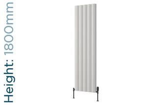 Reina Belva Aluminium Designer White Double Vertical Radiator H1800mm X W308mm