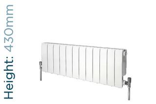 Apollo Modena Aluminium Designer White Double Horizontal Radiator H430mm X W320mm